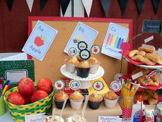 BTS Breakfast Bar Table with Printables by Cupcake Wishes & Birthday Dreams