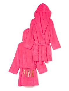 Pink: medium/large. Plush Robe - PINK - Victoria's Secret