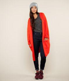 SAMSOE & SAMSOE kimy cardigan orange - Damenmode & Schuhe jetzt versandkostenfrei - Kauf Dich gluecklich