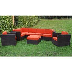 Atlantic Siena 8-piece Patio Set with Cushions, Patio Furniture