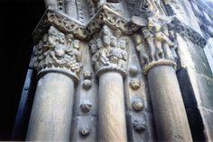 Capiteles romanicos de Ciaño,municipio de Asturias-España