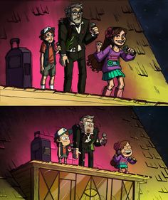 Gravity Falls screenshot redraw by LilyScribbles on deviantART