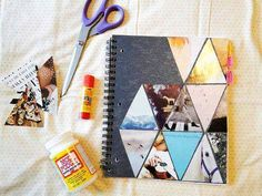DIY notebook cover, I have done this and it is so fun to put your style into it!