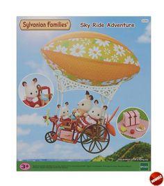 #SylvanianFamilies Przygoda w chmurach to wspaniała zabawka dla dzieci i pierwsza maszyna latająca Sylvanian Families z uroczym pomarańczowym sterowcem i dużymi kołami.