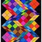 Victor Vasarely's style of painting in the 1950's used geometric shapes with interesting color combinations.