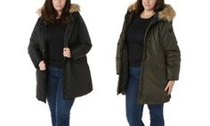Groupon - Steve Madden Women's Hooded Plus Parka with Faux Fur Trim. Groupon deal price: $29.99
