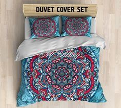 Bohemian bedding, Bohemian queen / king / full / twin duvet cover, Higher mind/ heart sacred circle mandala duvet cover set, Boho duvet cover, boho bedding