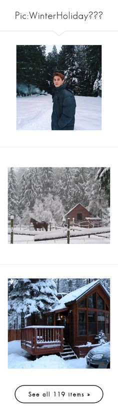 """""""Pic:WinterHoliday❄️🌨"""" by tumblrcecilia ❤ liked on Polyvore featuring winter, backgrounds, pictures, winter background, houses, photos, photography, instagram, food and home"""