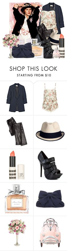 """♥"" by bows ❤ liked on Polyvore featuring Elizabeth and James, Iodice, Reiss, Topshop, Matiko, Christian Dior, Taschen and American Retro"