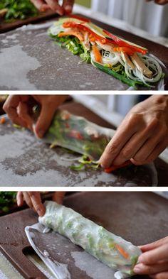 Copycat Pei  Wei Vietnamese Chicken Salad Spring Rolls... Omg my Fave, I Can Now Die Happy