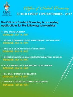 You still have 5 days to go. Apply for these @UWImona #scholarships before the deadline. Apply Today!!! http://crwd.fr/2tKhLJT July 14th