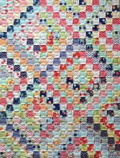 perfect quilting on this scrappy trip!