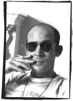 "Hunter Stockton Thompson (July 18, 1937, Louisville, Kentucky – February 20, 2005,Woody Creek, Colorado) was an American journalist and author, and the founder of the gonzo journalism movement. He became a counter cultural figure, with his own brand of New Journalism which he termed ""Gonzo"", an experimental style of journalism where reporters involve themselves in the action to such a degree that they become central figures of their stories. Cause of death: suicide  from a self-inflicted gunshot"