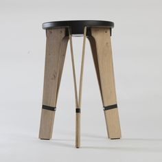 Stool by yakir buaron Plywood Furniture, Furniture Projects, Furniture Design, Ottoman Stool, Stool Chair, Wood Detail, Life Design, Chair Design, Wood Art