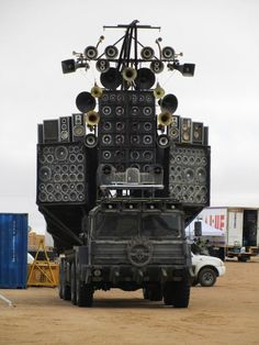 Ain't It Cool News: Mad Max: Fury Road.  This thing looks so cool.  I love the skull circle with flames on the front.