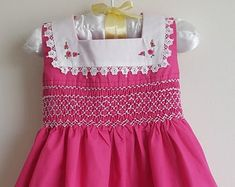 Smocked Baby Clothes, Girls Smocked Dresses, Smocked Clothing, Smocking Patterns, Smocking Plates, Sewing Patterns, Smoking, Smock Dress, Little Dresses