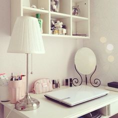 Clean and crisp girly desk