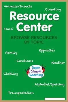 Free Weather resources for kids from Super Simple Learning. #EFL #preschool
