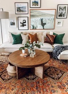 Ideas For Home Vintage Living Room Inspiration Home Living Room, Apartment Living, Living Room Designs, Living Room Decor, Living Room Natural Decor, Living Room With Color, Earthy Living Room, Tuscan Living Rooms, Earthy Home Decor