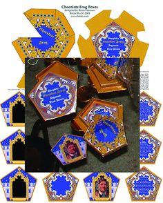 Party favors. Make your own Chocolate Frogs:  Chocolate Frog Boxes & Matching Cards - Digital Download. $7.00, via Etsy.  http://www.etsy.com/listing/74797745/chocolate-frog-boxes-matching-cards#