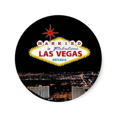 MARRIED In Fabulous Las Vegas, Nevada Sticker