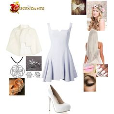 Yasmine - Daughter of Yeti by maxinehearts on Polyvore featuring Alexander McQueen, Nina Ricci, Disney, Amour, Disney Couture, disney, OC, Descendants and monsersinc