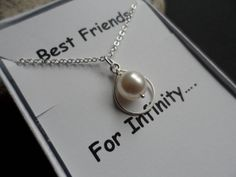 Best Friends For Infinity Necklace  by weddingbellsdesigns on Etsy