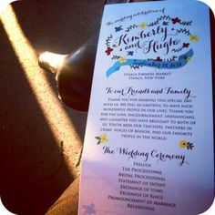 Fall Wedding Program - adorable and not too fussy
