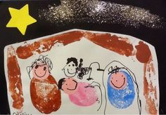 An idea on Tuesday: Vegetable Printing Nativity