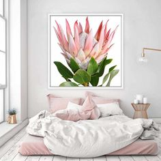 Protea Pink King Flower Posters and Prints Canvas Painting South Africa Wall Art pictures Paintings for living Room Home Decor Living Room Decor Styles, Rooms Home Decor, Pink Wall Art, Wall Art Decor, Protea Art, African Art Paintings, Floral Paintings, African Interior, Home Decor Paintings