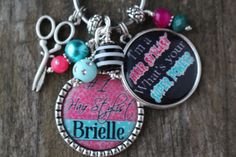 Check out this item in my Etsy shop https://www.etsy.com/listing/223907814/personalized-hairstylist-gift