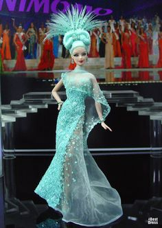 Barbie Miss Northern Mariana Islands Ninimomo Barbie Girl, Barbie Dress, Barbie Clothes, Beautiful Barbie Dolls, Barbie Collection, Barbie Friends, Beauty Pageant, Vintage Barbie, Beautiful Gowns