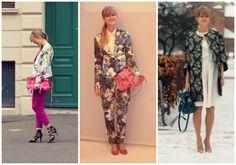 Fashion blogger + radio host ROCKPAPERDRESSES in floral suit :) #flowerprint
