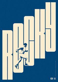 la boca proposal for century fox / rocky film poster. Graphisches Design, Book Design, Print Design, Illustration Design Graphique, Art Graphique, Rocky Film, Typography Design, Lettering, Design Editorial