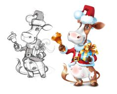X mas cow character
