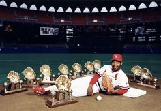 Hall of Fame Great Ozzie Smith with His Gold Gloves Cardinals 8x10 Color Photo | eBay