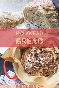No Knead Bread, Artisan Bread, International Recipes, Creative Food, Picnic, Baking, Breakfast, Cranberries, Foodblogger