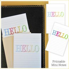 Printable Notes