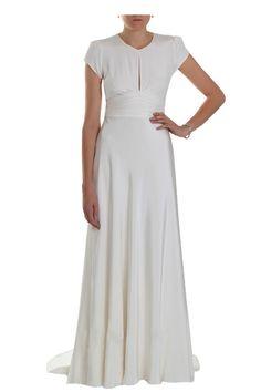 1940s Vintage Wedding Dresses | ... 1940s Vintage Silk Crepe Cap-sleeved Wedding dress | Circa Vintage