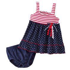 Sophie Rose Star and Stripe Knit Sundress - Baby