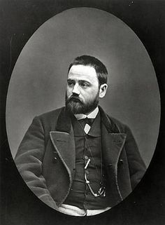 Emile Zola (1840-1902), c.1870-80 (b/w photo) Archives Charmet Bibliotheque Nationale, Paris, France Bridgemanart.com