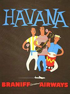Havana * Braniff Airlines  retrotogo.com