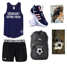 """""""Soccer Tournement"""" by squirt-7 on Polyvore featuring adidas, pinkage, women's clothing, women, female, woman, misses and juniors"""