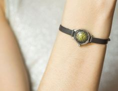 Forest green women's watch mini watch Seagull by SovietEra on Etsy