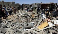 صحيفة الأمة العربية                                               : حصاد الغارات السعودية على اليمن.. بالأرقام