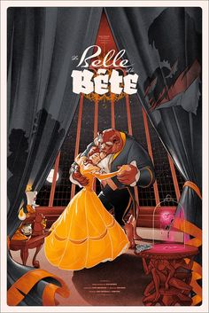 Beauty and the Beast   25 Beautifully Reimagined Disney Posters That Capture The Magic Of The Films