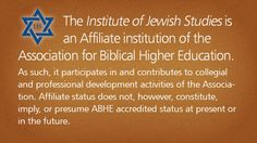 The Institute of Jewish Studies is a uniquely focused program for committed Christians who are interested in studying the Scriptures in-depth...