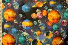 Digitaaliprintti Planeetat Fabrics, Science, Tejidos, Cloths, Fabric, Textiles