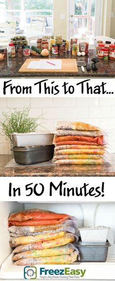 Freeze Easy Meal Plans - 5 New Plans To Show You How To Prepare & Freeze 10 Meals in Less Than An Hour!