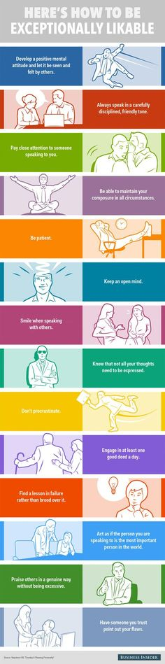 Habits Of Exceptionally Likeable People (Infographic) 14 Habits Of Exceptionally Likable People Habits Of Exceptionally Likable People (Infographic) Life Advice, Good Advice, Life Tips, Self Development, Personal Development, Life Skills, Life Lessons, People Infographic, Infographics